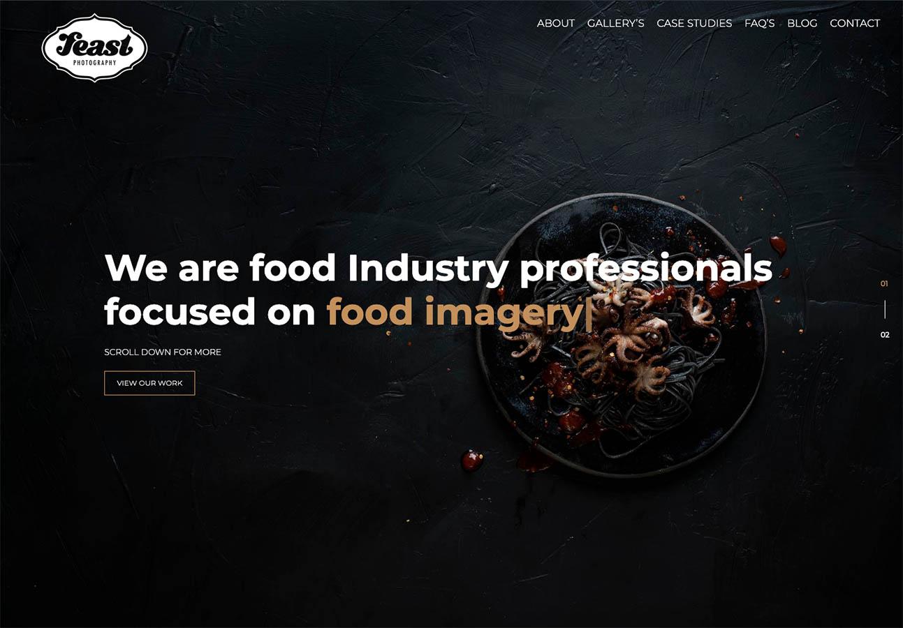 Feast food photography website